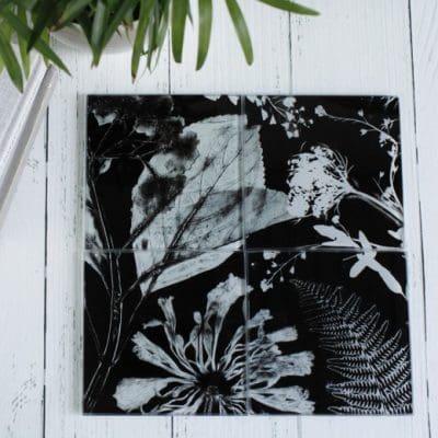 Springs Spectre   White & Black Set of Glass Coasters