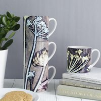 Ideal Gift Ideas Colourful Floral Stacking Mugs