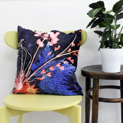 Blue Wreath | Pink & Blue Sofa Cushion Bold Design