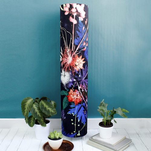 Tall Blue Wreath Floor Lamp - Stylish Home Interior Lighting With Stand