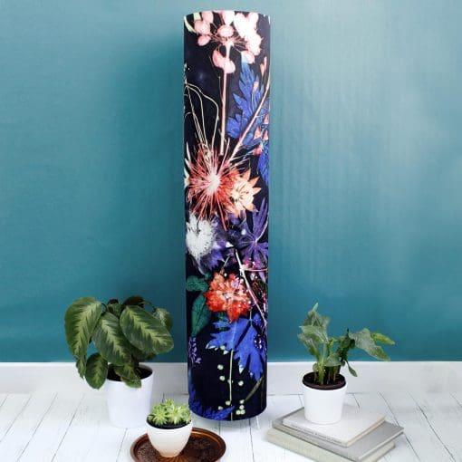 Blue Wreath | Tall Standing Floor Lamp, Festive Mood Lighting