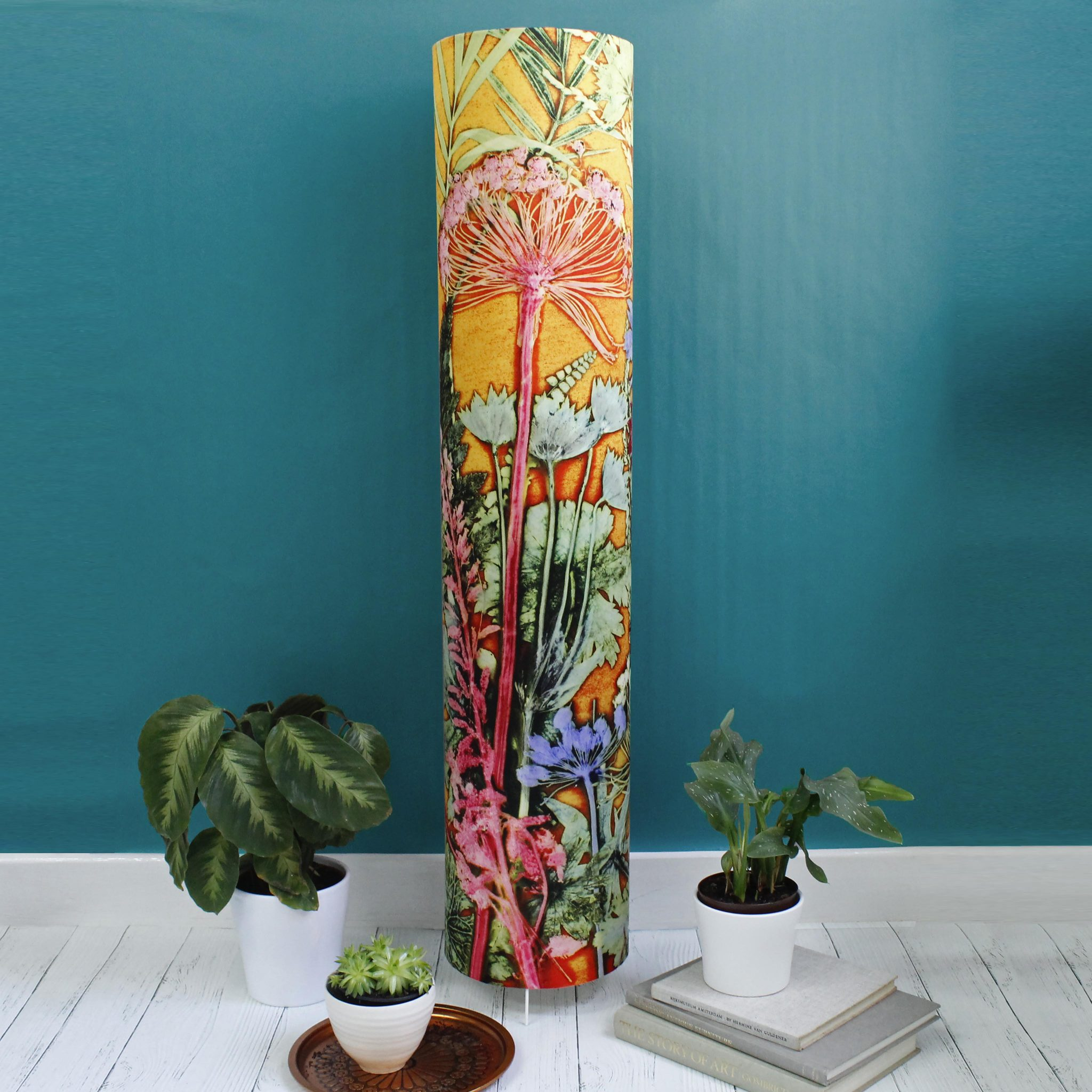 Tropical Sunshine | Tall Standing Floor Lamp, Yellow Mood Lighting