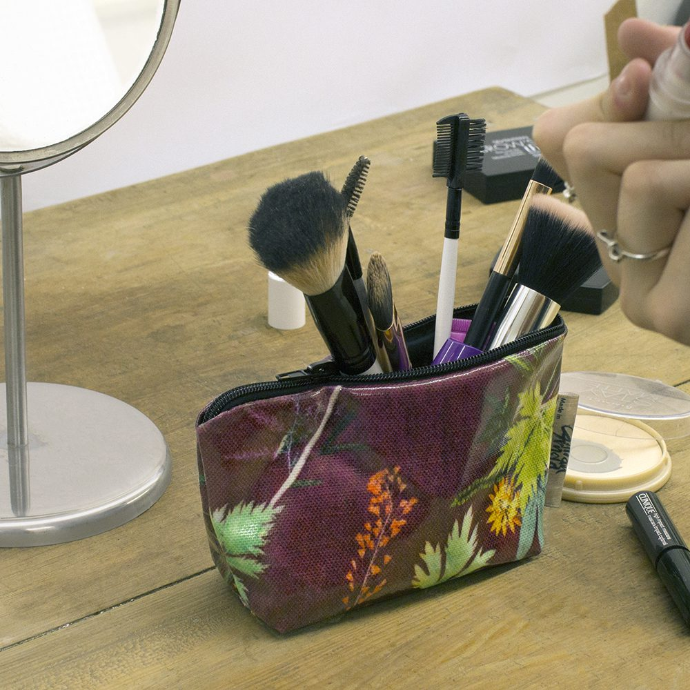 Tropical Wine - Tropical Inspired Travel & Beauty Makeup Bag.
