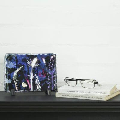 Vibrant Blue Fantasia Slate Art Print - Home Accessory and Gift