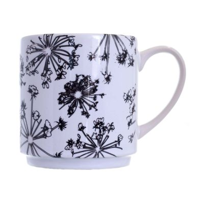 White Spread Cow Parsley Ceramic Mu , Home and Kitchen Accessory