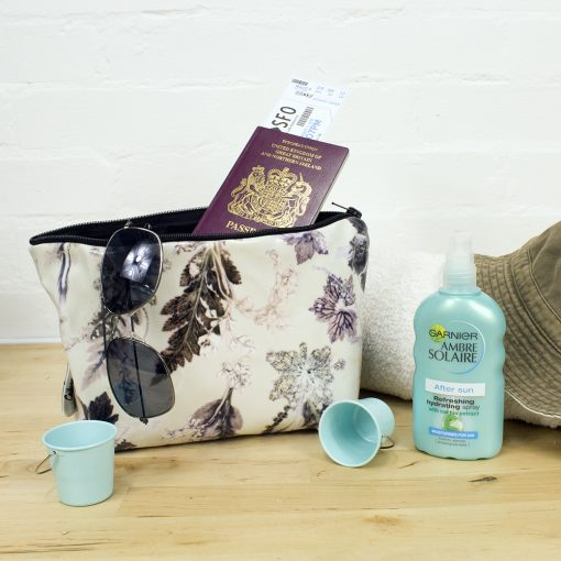 Winter Flourish - Botanical Inspired Travel and Beauty Wash Bag