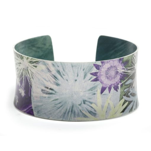 Winter Moon, Cuff Bracelet, Bangle, Botanical Design Floral Gift Jewellery, Gift For mum and wife