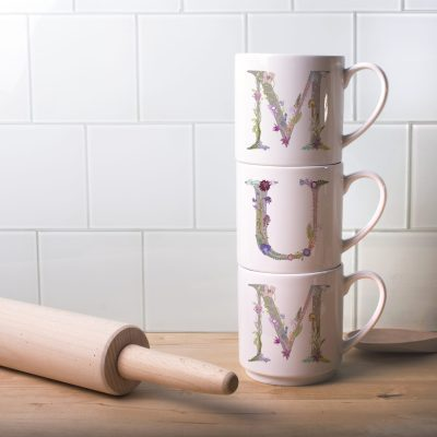 Personalised Mother's Stacking Mugs Home Gift Set