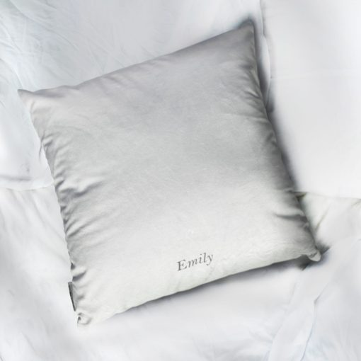 Personalised Letter Sofa Cushion with Botanical Inspired Lettering