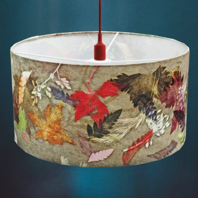 Floral Dance | Brown & Red Lamp Shade For The Bedroom