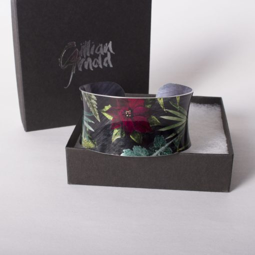 December Birth Flower Bracelet Gift For Her, Poinsettia, Beautiful Floral Bangles and Jewellery.