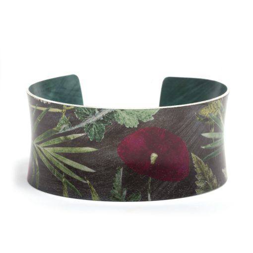August Birth Flower Bracelet Gift For Her, Poppy, Beautiful Floral Bangles and Jewellery.
