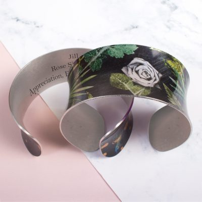 Personalised Birth Flower Jewellery, Cuff Bracelets & Bangles