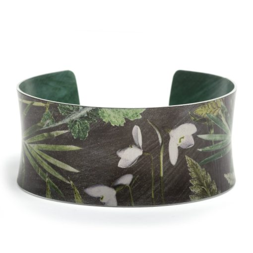 January Birth Flower Bracelet Gift For Her, Snowdrop, Beautiful Floral Bangles and Jewellery.