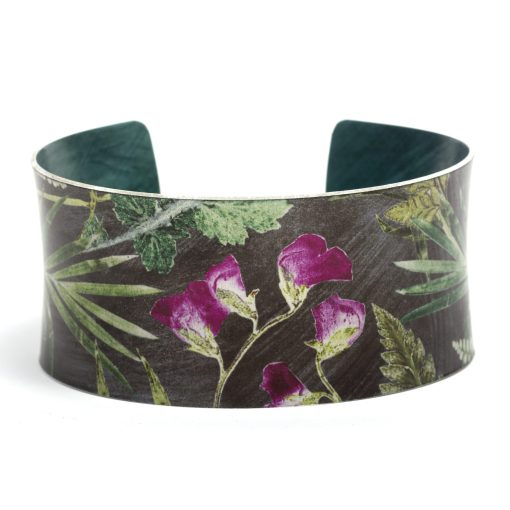 April Birth Flower Bracelet Gift For Her, Sweet Pea, Beautiful Floral Bangles and Jewellery.