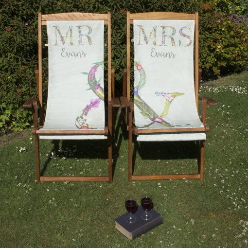 Mr & Mrs Deckchairs | Personalised Matching Wood Deckchairs
