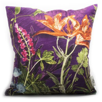 Purple Whisper | Purple & Orange Sofa Cushion Bold Design