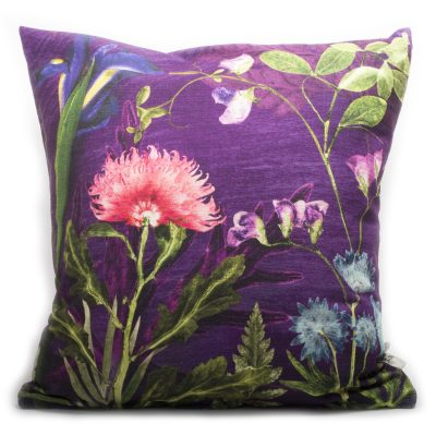 Elegant Embrace | Pink & Purple Sofa Cushion Bold Design