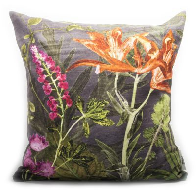 Midnight Bloom | Pink & Orange Sofa Cushion Bold Design