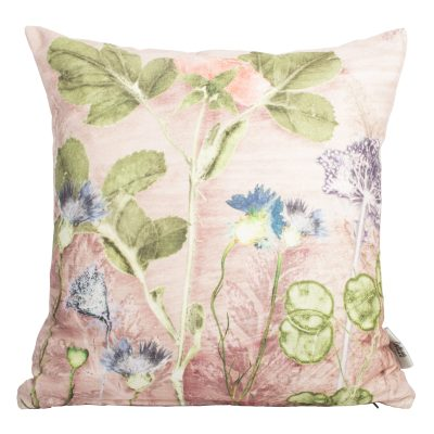 Mothers Pink Bouquet 2 | Pink & Green Sofa Cushion Country Style