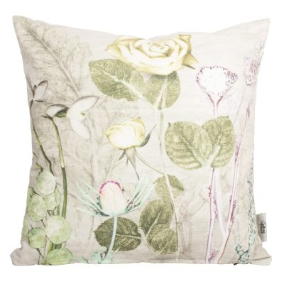 Mothers Silver Bouquet 1 | Green & Silver Sofa Cushion Country Style