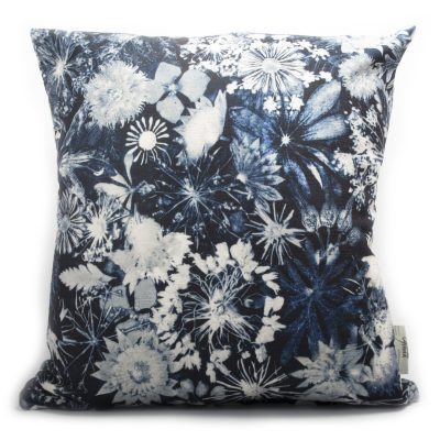 Cascades of Blue | White & Blue Sofa Cushion Bold Design