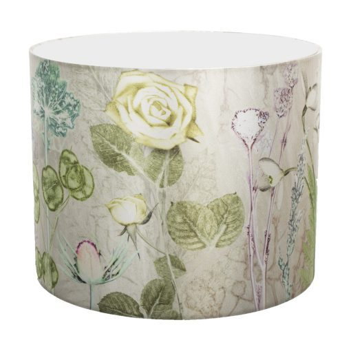 Mothers Silver Bouquet | Silver & Green Lamp Shade For The Bedroom