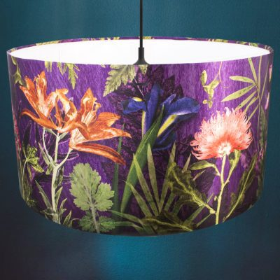 Purple Whisper | Purple & Orange Light Shade For The Dining Room
