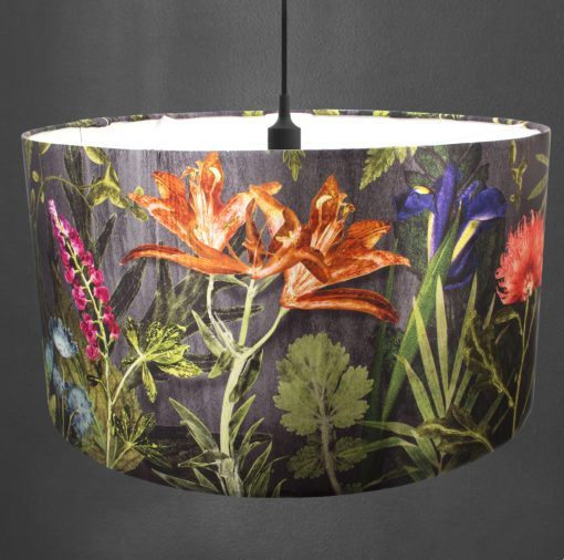 Midnight Bloom | Orange & Pink Lamp Shade For The Living Room