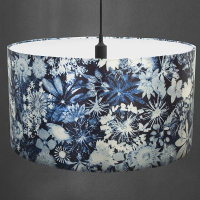 Cascades of Blue | Blue & White Light Shade For The Dining Room