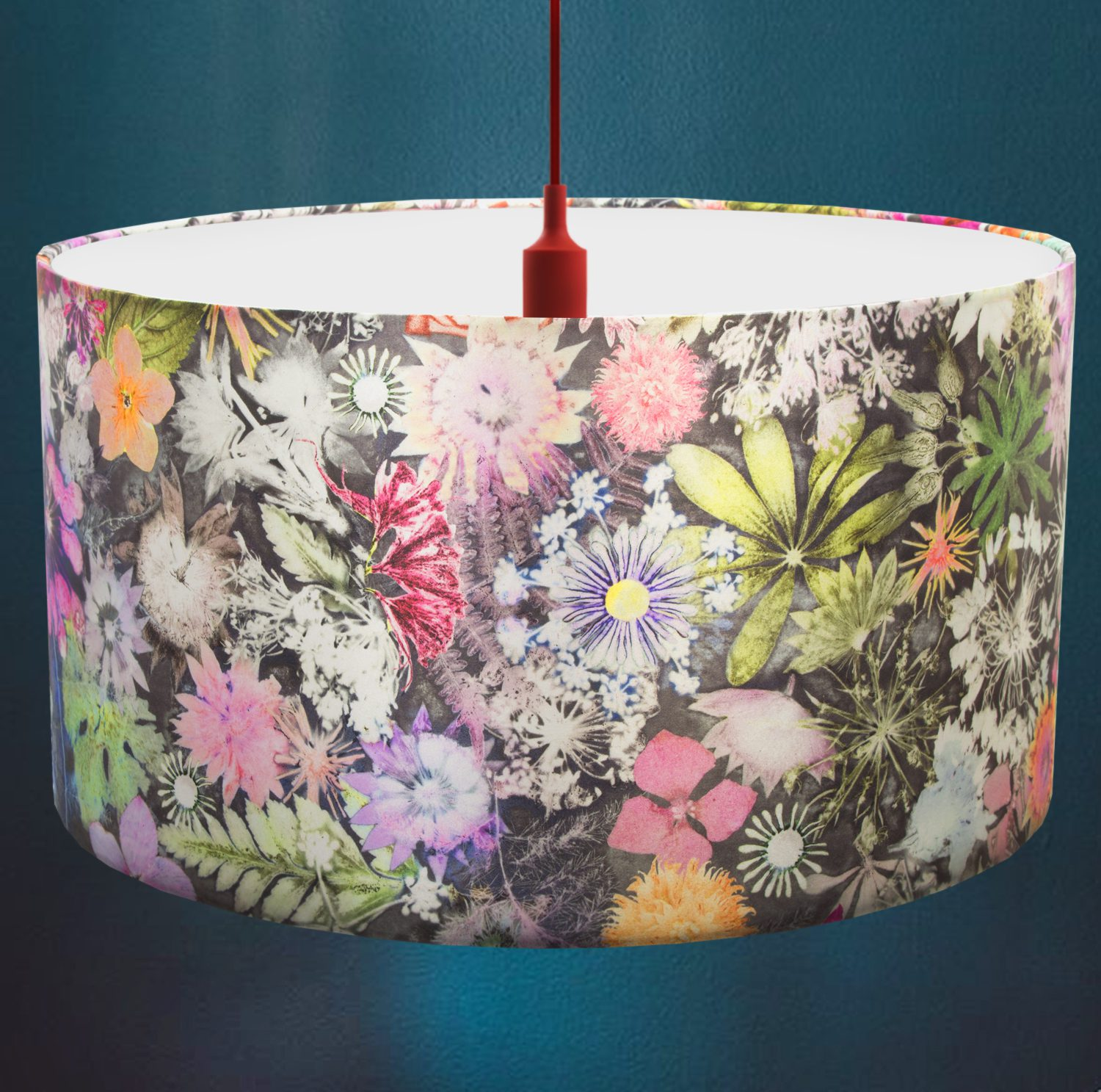 Cascades of Colour | Green & Pink Lamp Shade For The Living Room