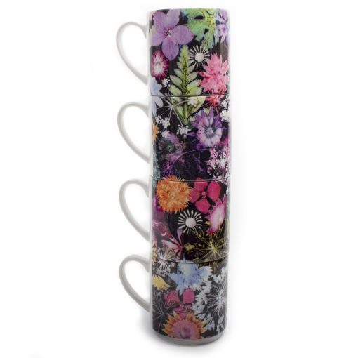 Cascades of Colour | Vibrant Stacking Mug, Gift Set of 4