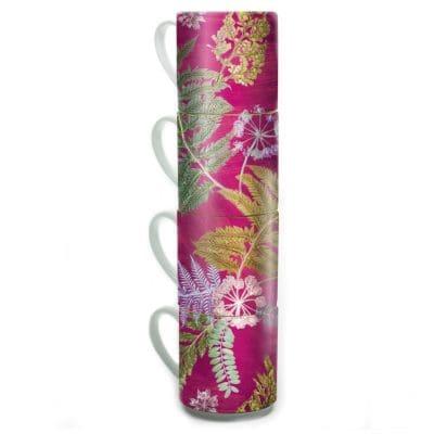 Now Thats Something - Hot Pink | Green & Pink Stacking Mug Set of 4