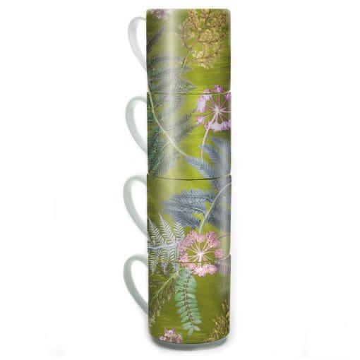 Now Thats Something - Lime | Green & Pink Stacking Mug Set of 4