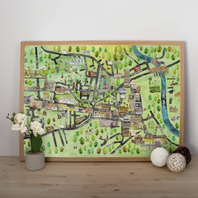 Bishop Auckland On The Map | Gillian Arnold | Pineapple Castle
