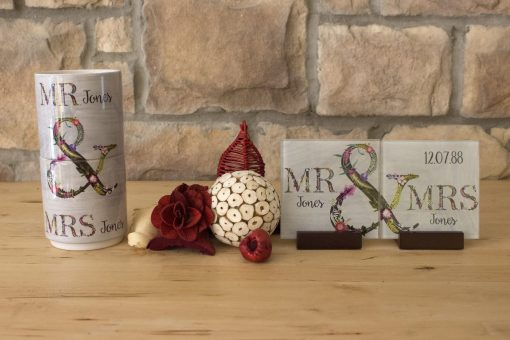 Mr & Mrs Stacking Mugs   Couples Personalised Gift