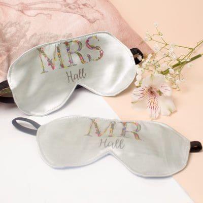 Couples Matching Eye Masks | Sleeping Accessory, Mr & Mrs Gift