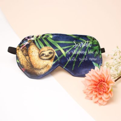Tropical Sloth Eye Mask | Travel Accessory, Personalised Gift