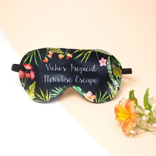 Indigo Tropical Eye Mask | Sleeping Accessory, Personalised Gift