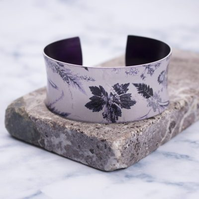 Botanical Design Winter Flourish Aluminium Cuff Bracelet