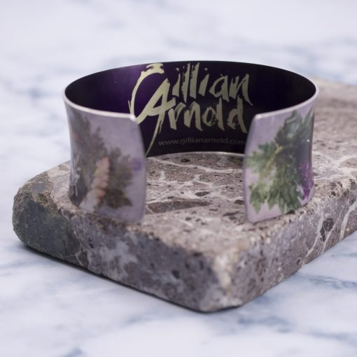 Botanical Inspired Floral Dance Aluminium Cuff, Stylish Handmade Jewellery