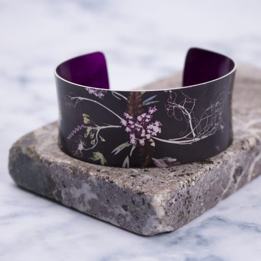 Stylish Edwardian Blooms Botanical Cuff Bracelet and Jewellery Gift