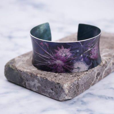 Blue Wreath Botanical Cuff Bracelet and Jewellery Gift