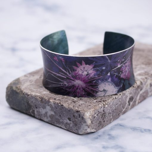 Blue Wreath Botanical Cuff Bracelet and Jewellery Gift