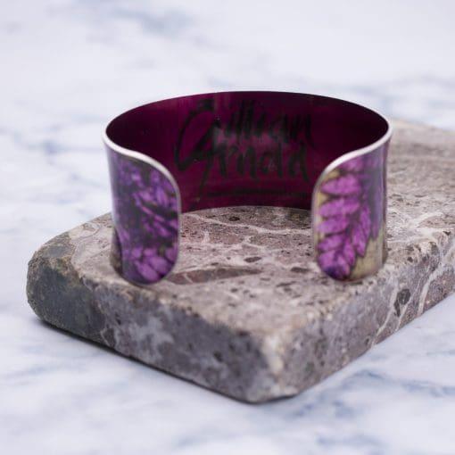 Stylish Handmade Golden Fern Aluminium Cuff Bracelet, Jewellery Gift