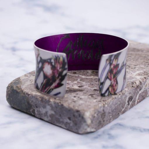 Tangerine Branch Aluminium Cuff Bracelet, Stylish Jewellery Gift