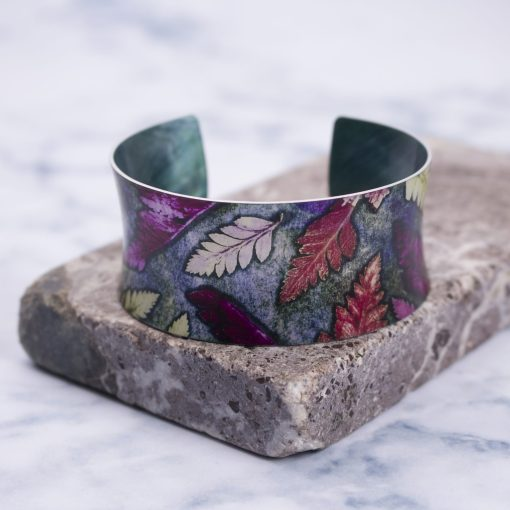 Warm Mini Ferns Bracelet, Botanical Aluminium Jewellery