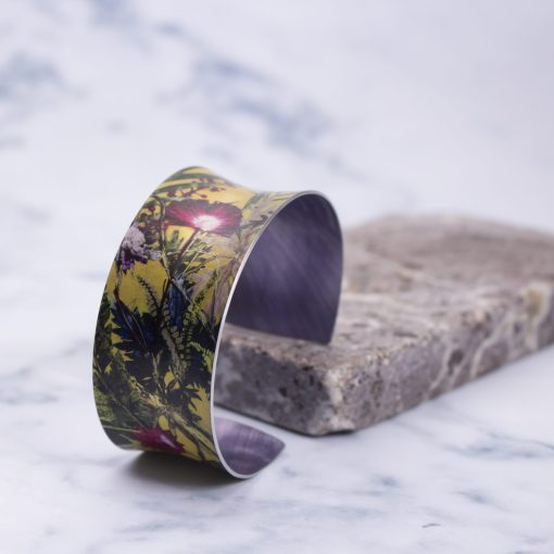 Exotic Tropical Wine Aluminium Cuff Bracelet and Jewellery Gift