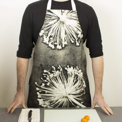 Alliums | Black & White Kitchen Apron | Country Kitchen