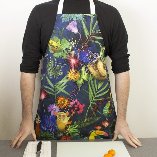 Jungle Surprise | Colourful Animal Kitchen Apron | Tropical Kitchenware